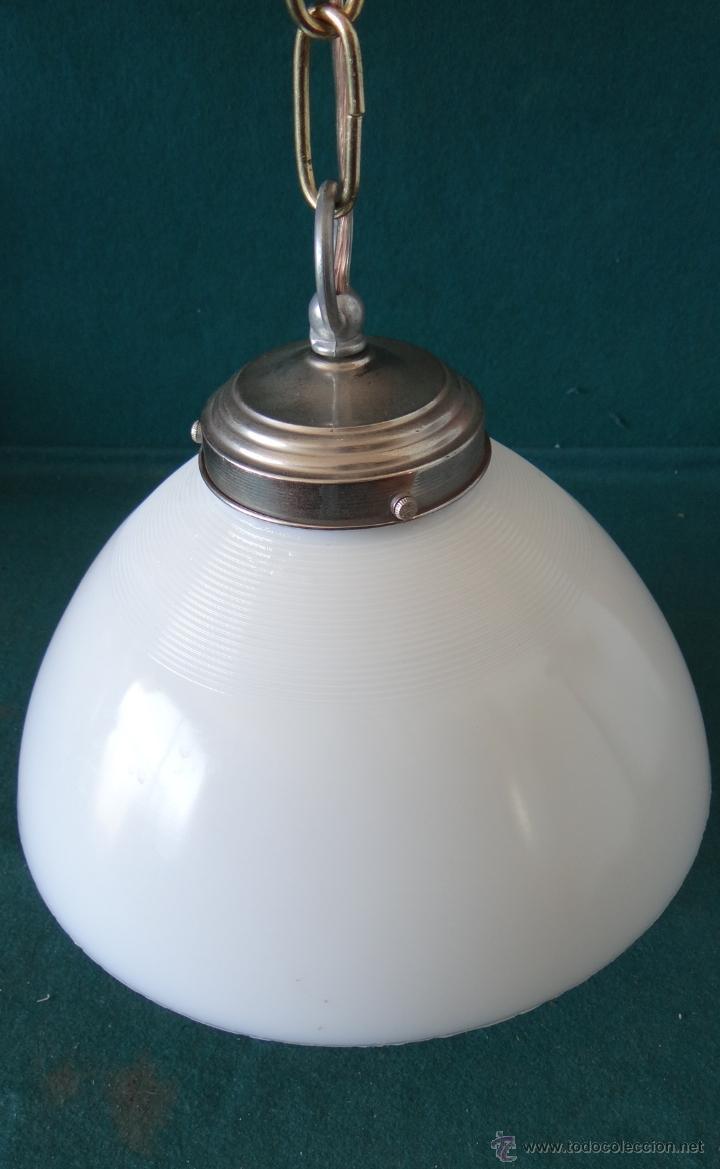 Vintage: LAMPARA CON TULIPA DE OPALINA BLANCA - VINTAGE - FUNCIONANDO - - Foto 7 - 43455038