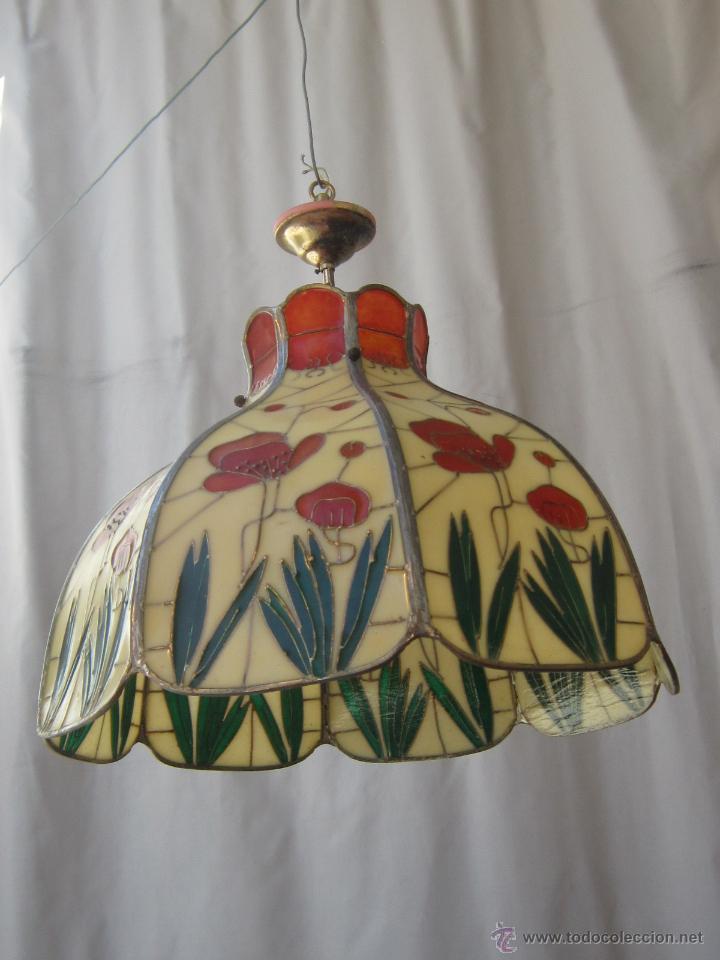 Vintage: LAMPARA DE TECHO TIFFANY - Foto 3 - 43462622