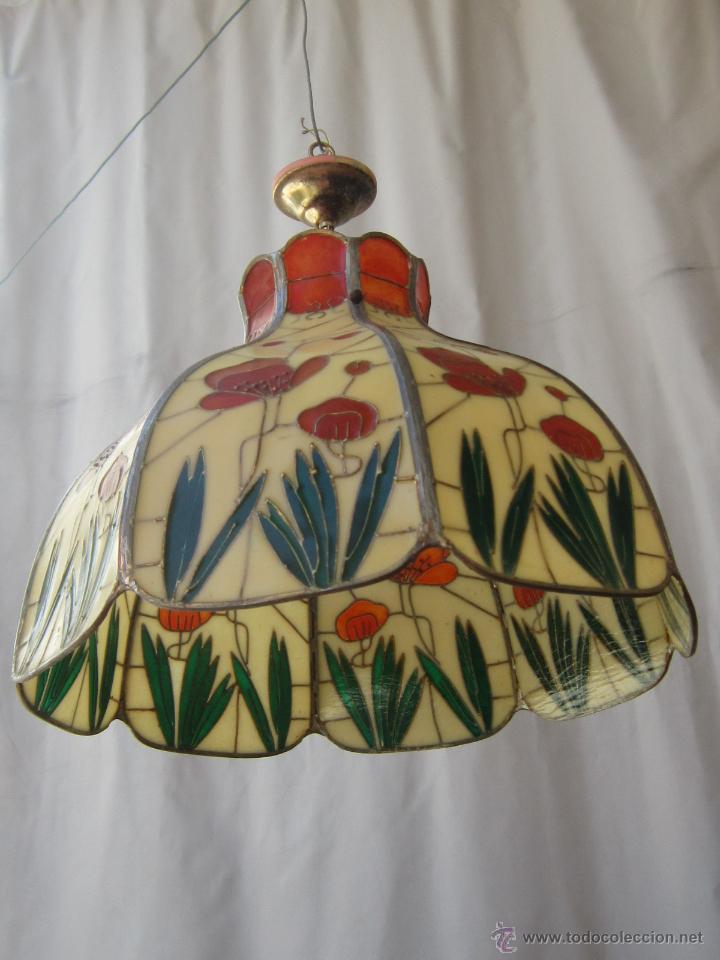 Vintage: LAMPARA DE TECHO TIFFANY - Foto 4 - 43462622