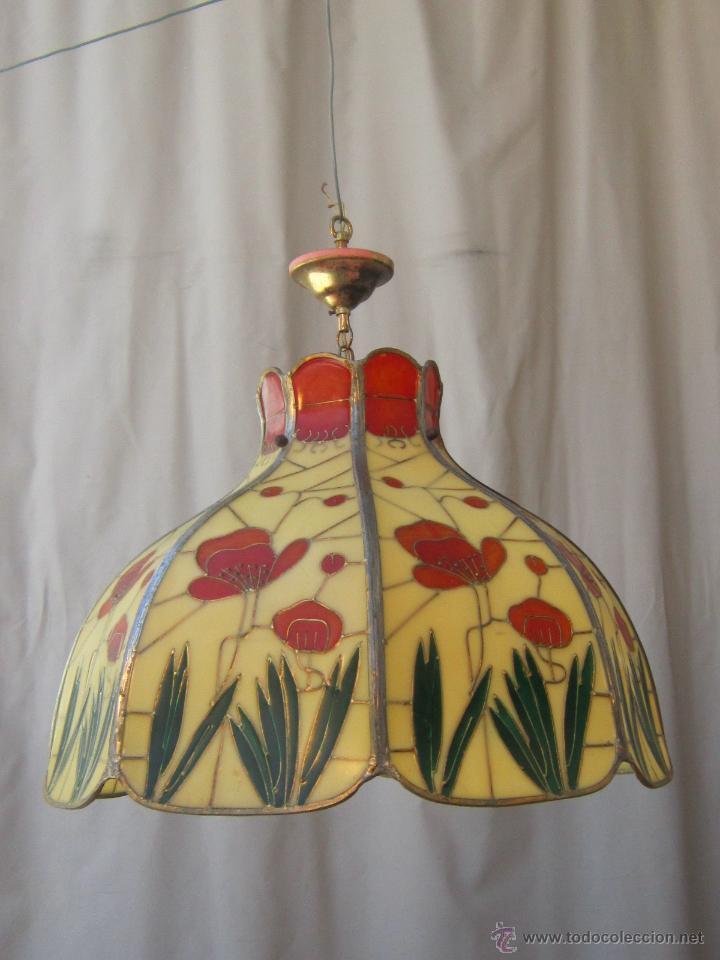 Vintage: LAMPARA DE TECHO TIFFANY - Foto 5 - 43462622
