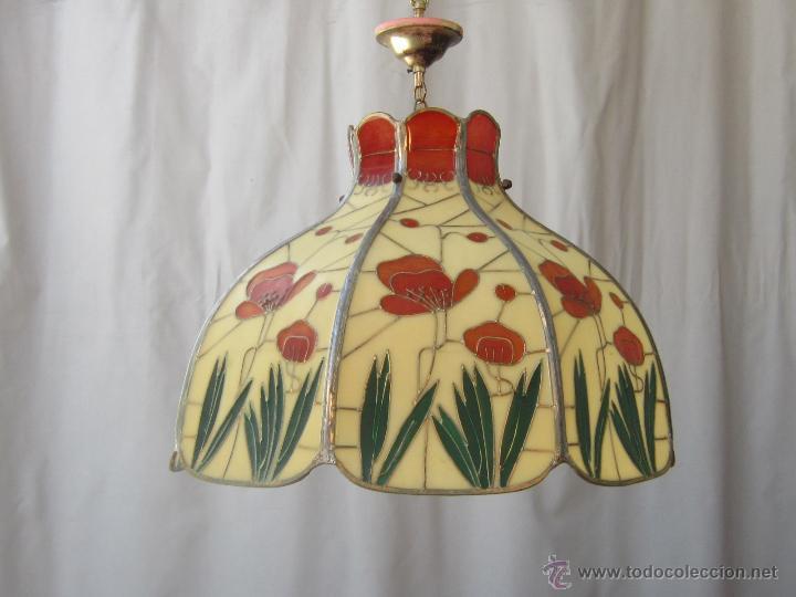 Vintage: LAMPARA DE TECHO TIFFANY - Foto 6 - 43462622
