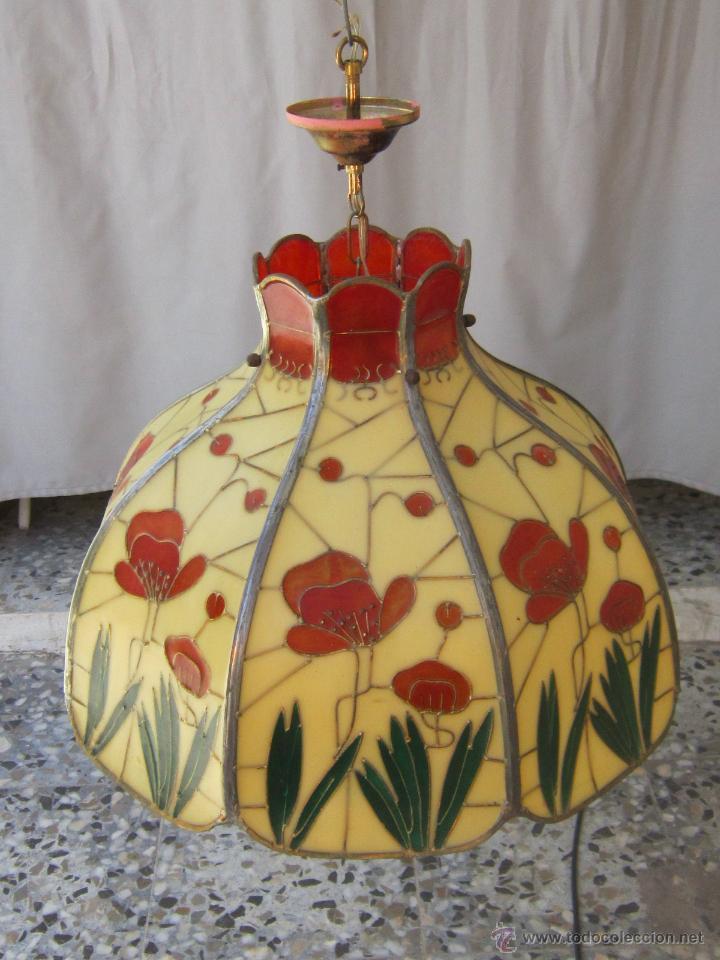 Vintage: LAMPARA DE TECHO TIFFANY - Foto 8 - 43462622