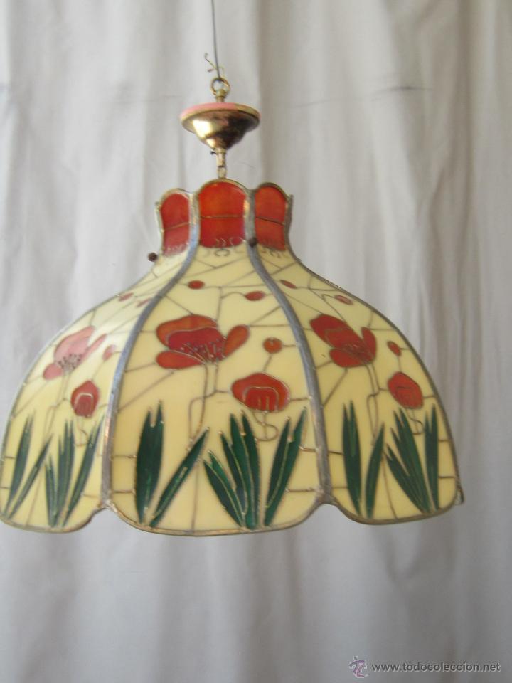 Vintage: LAMPARA DE TECHO TIFFANY - Foto 9 - 43462622