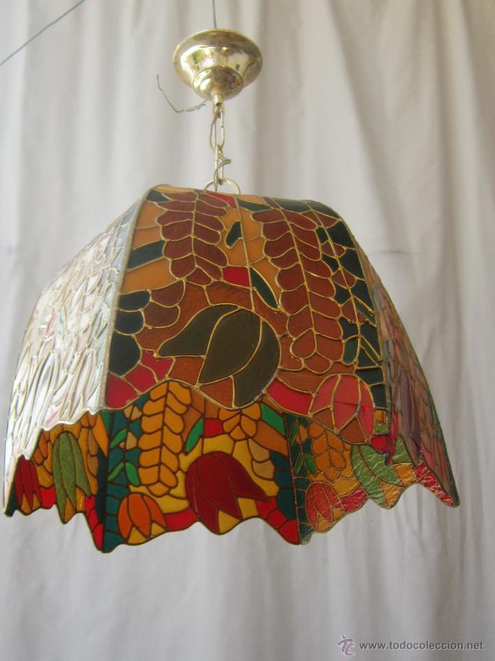 Vintage: LAMPARA DE TECHO TIFFANY - Foto 3 - 43462668