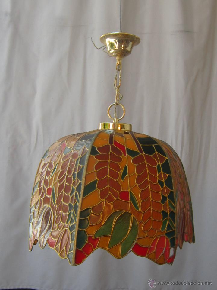 Vintage: LAMPARA DE TECHO TIFFANY - Foto 5 - 43462668