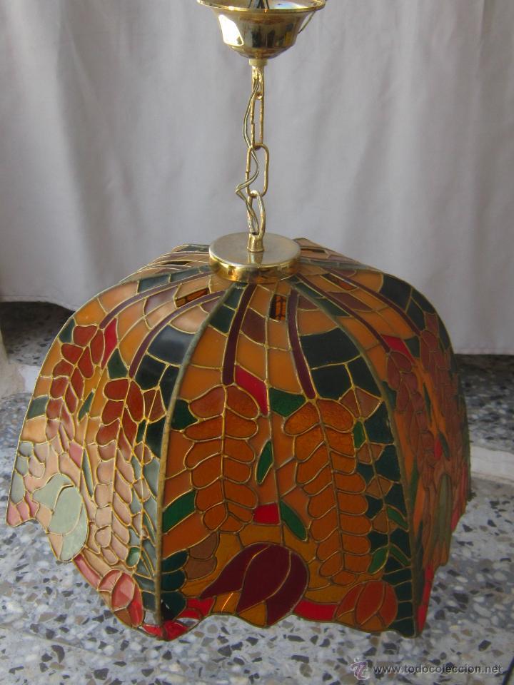 Vintage: LAMPARA DE TECHO TIFFANY - Foto 7 - 43462668