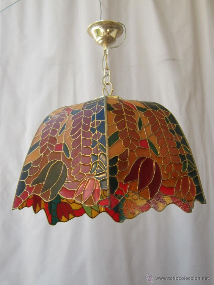 Vintage: LAMPARA DE TECHO TIFFANY - Foto 8 - 43462668