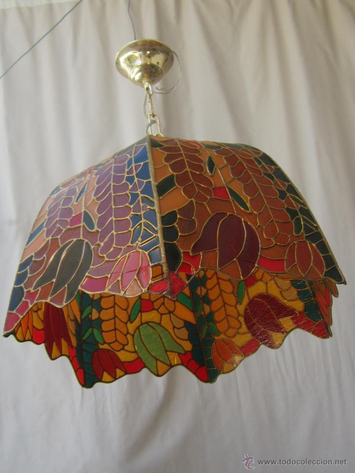 Vintage: LAMPARA DE TECHO TIFFANY - Foto 9 - 43462668