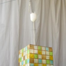 Vintage: LAMPARA DE TECHO CON CRISTALES DE PLATISCO. Lote 43462769