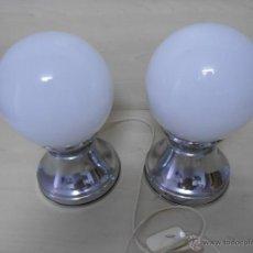 Vintage: PAREJA DE LAMPARAS DE MESITA DE NOCHE . Lote 57218831