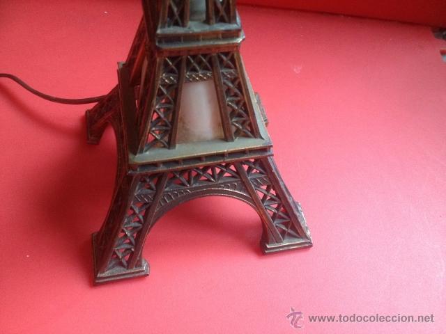 Vintage: LAMPARA TORRE EIFFEL VER FOTOGRAFIAS ENCENDIDA - Foto 7 - 43570654