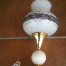 Vintage: ANTIGUA LAMPARA DE SOBREMESA EN METAL DORADO.. Lote 43592575