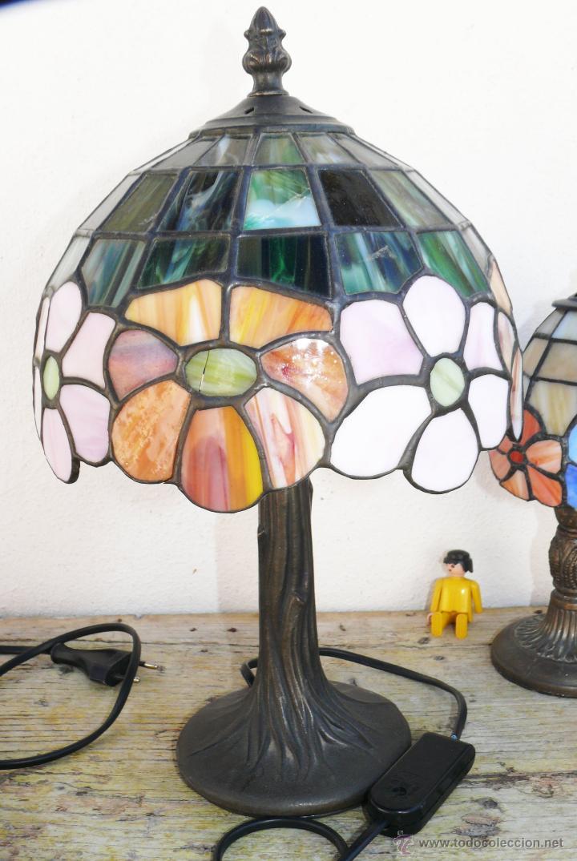 lampara vintage estilo tiffany cristal colores - Comprar Lámparas ...