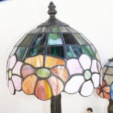 Vintage: LAMPARA VINTAGE ESTILO TIFFANY CRISTAL COLORES EMPLOMADOS TIFANYS. Lote 43613952