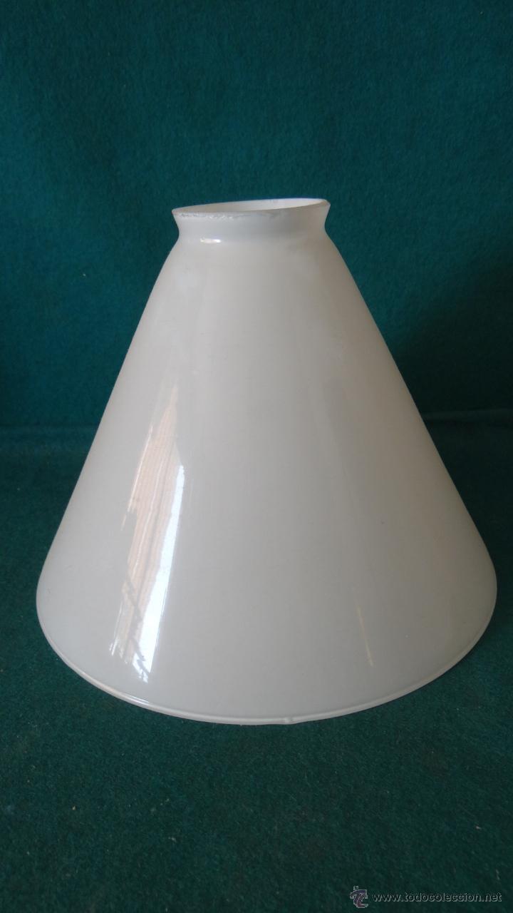 TULIPA PANTALLA OPALINA ART DECÓ - 20 X 16 CM. - (Vintage - Lámparas, Apliques, Candelabros y Faroles)