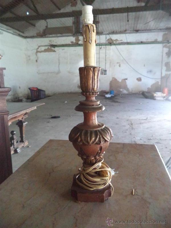 LAMPARA POLICROMADA (Vintage - Lámparas, Apliques, Candelabros y Faroles)