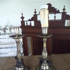 Vintage: PAREJA DE TULIPAS DE ESTAÑO CON METAL. Lote 43926501