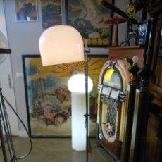 Vintage: VINTAGE LAMPARA DE PIE CROMADA CON TULIPA PLASTICA BLANCA , AÑOS 70. Lote 44035787