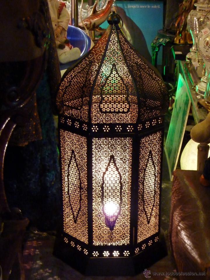 Lampara de sobremesa suelo farol arabe xxl comprar l mparas vintage apliques candelabros y - Apliques arabes ...