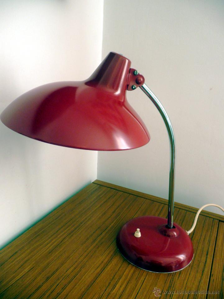 Lampara De Mesa Kaiser Idell Mod 6786 Rojo De Kaufen Lampen