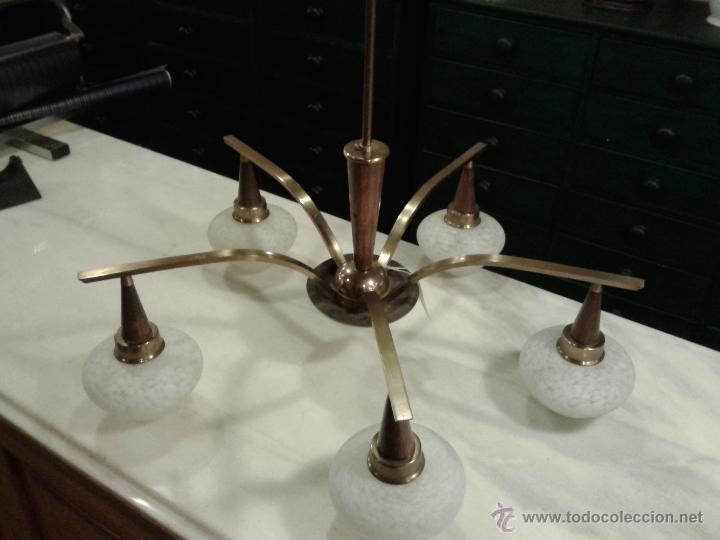 Vintage: Lampara Vintage de techo, cristales originales . - Foto 2 - 44315728