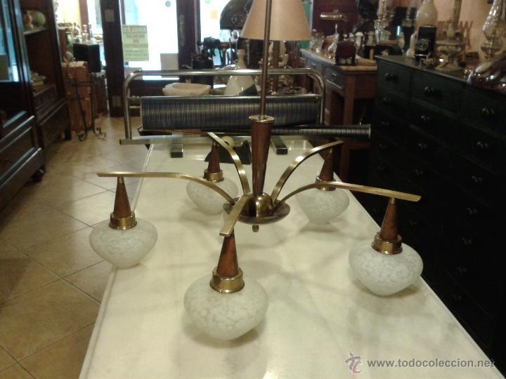 Vintage: Lampara Vintage de techo, cristales originales . - Foto 3 - 44315728