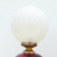 Vintage: LAMPARA BOHEMIA VINTAGE CRISTAL MURANO TALLADO ROSA IDELA DECORACION CLASICA O POP. Lote 44629066