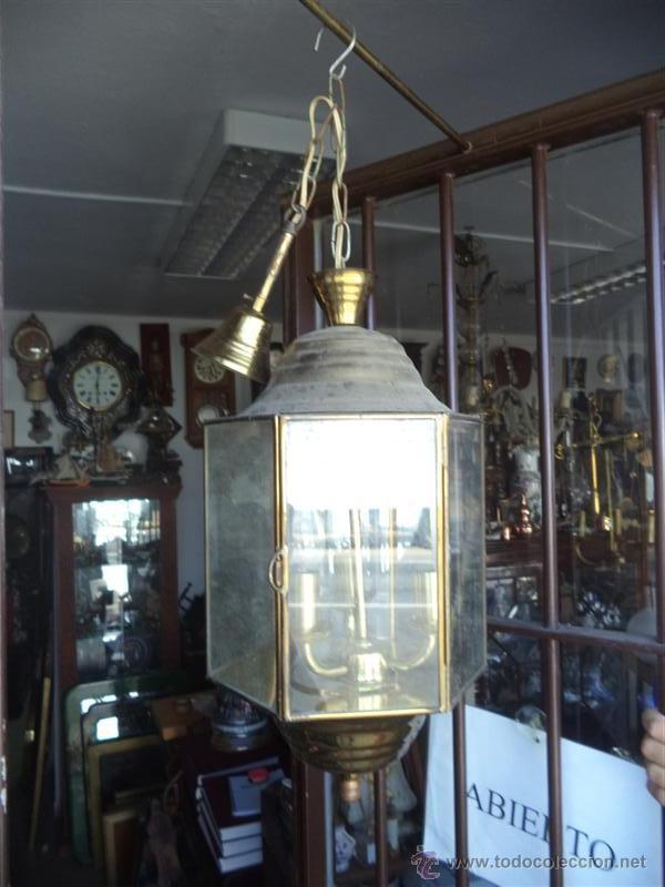 FAROL DE METAL (Vintage - Lámparas, Apliques, Candelabros y Faroles)