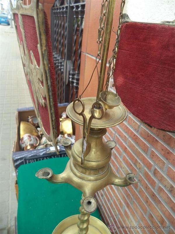 Vintage: antiguo velon de bronce con escudo - Foto 5 - 44898636