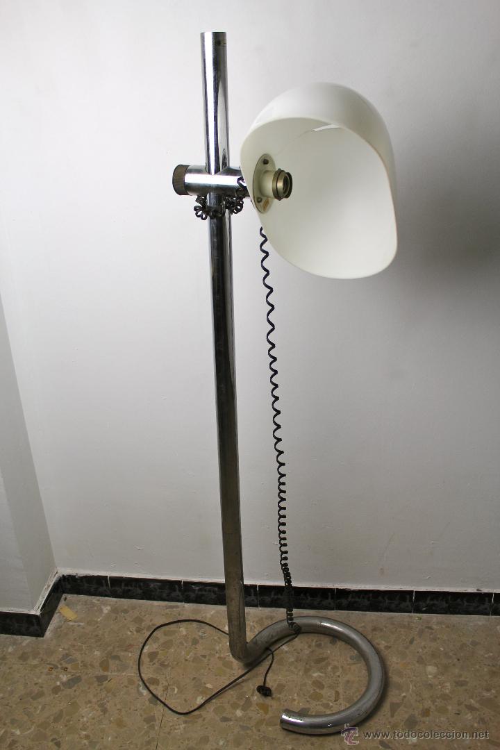 Original lampara de pie a os 70 base en metal y comprar - Lamparas y apliques ...