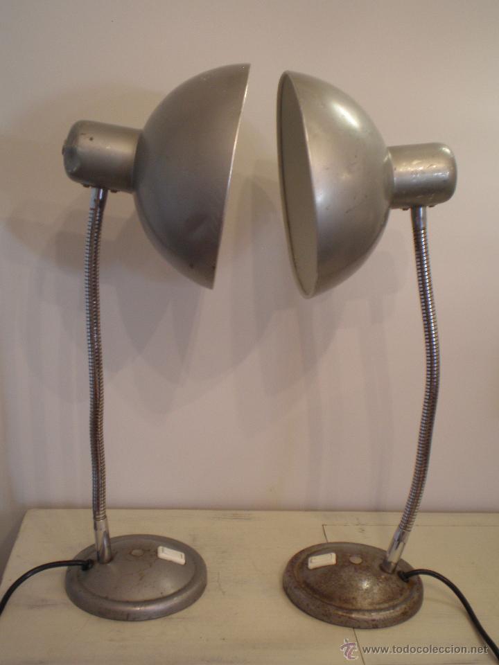 FLEXO LAMPARA INDUSTRIAL METAL VINTAGE ANTIGUA (Vintage - Lámparas, Apliques, Candelabros y Faroles)