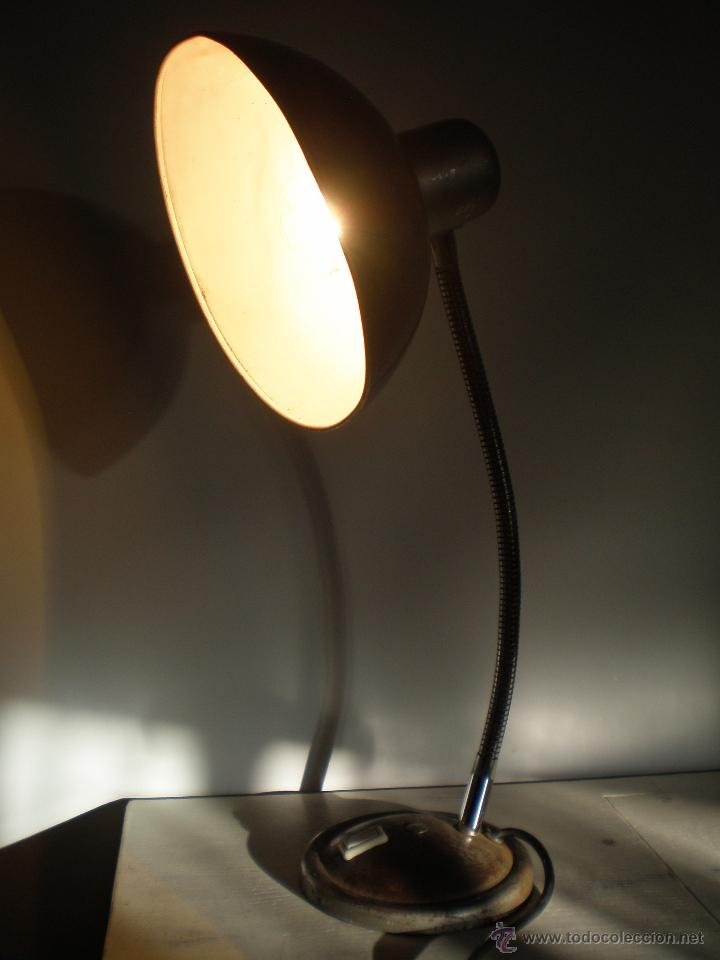 Vintage: FLEXO LAMPARA INDUSTRIAL METAL VINTAGE ANTIGUA - Foto 5 - 45192705