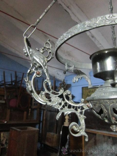 Vintage: Lámpara votiva realizada en calamina. - Foto 2 - 48137907