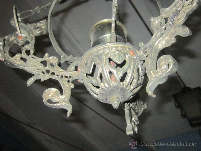 Vintage: Lámpara votiva realizada en calamina. - Foto 3 - 48137907
