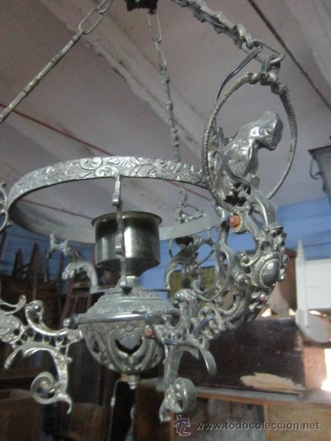 Vintage: Lámpara votiva realizada en calamina. - Foto 4 - 48137907
