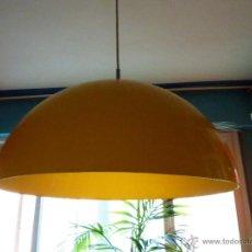 Vintage: LAMPARA TECHO CAMPANA ACRILICA AMARILLA XL -VINTAGE. Lote 45551079