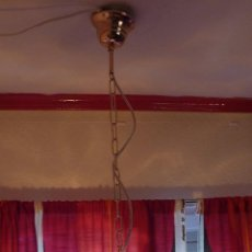 Vintage: LAMPARA TECHO CAMPANA MURANO AMBAR.. Lote 46089923