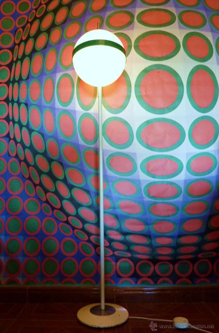 LAMPARA PIE ORIGINAL AÑOS 70 ESTILO VINTAGE-TRAMO (Vintage - Lámparas, Apliques, Candelabros y Faroles)