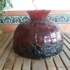 Vintage: LAMPARA DE TECHO EN FIBRA O PLASTICO . Lote 46128173