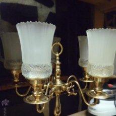 Vintage: PRECIOSA LAMPARA DE MESA,CON TULIPAS DE CRISTAL MUY GRUESO.. Lote 46153992