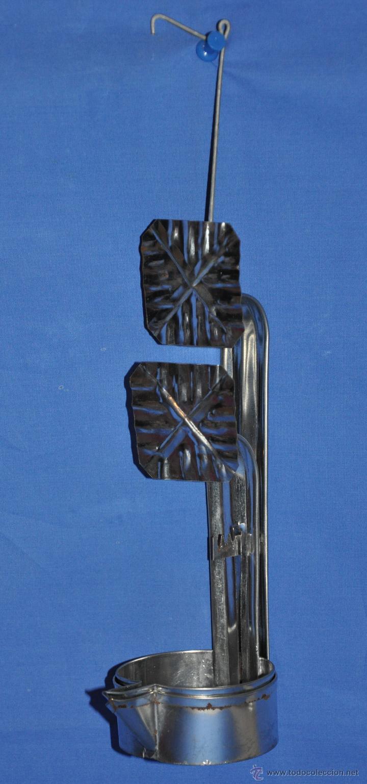 Vintage: Candil de hojalata de doble cazoleta. - Foto 2 - 46243596