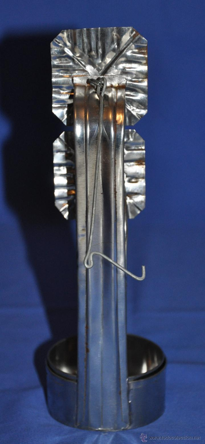 Vintage: Candil de hojalata de doble cazoleta. - Foto 3 - 46243596