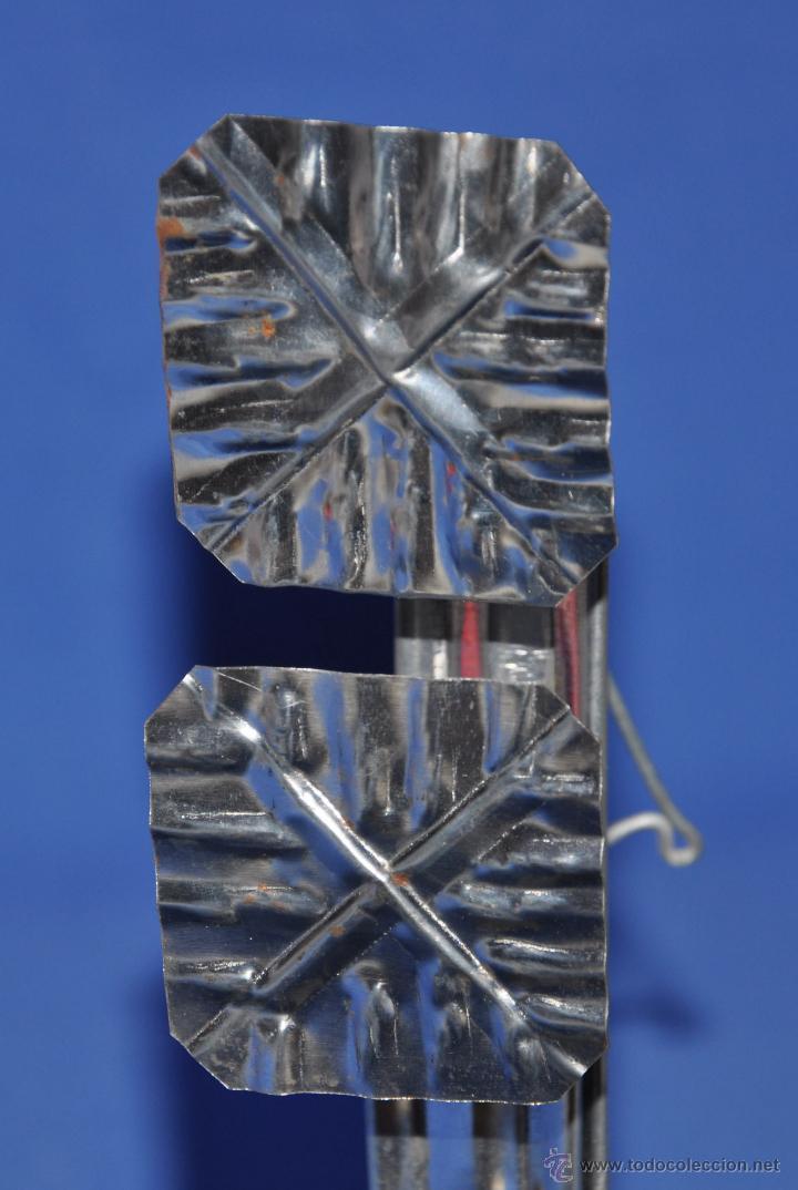 Vintage: Candil de hojalata de doble cazoleta. - Foto 6 - 46243596
