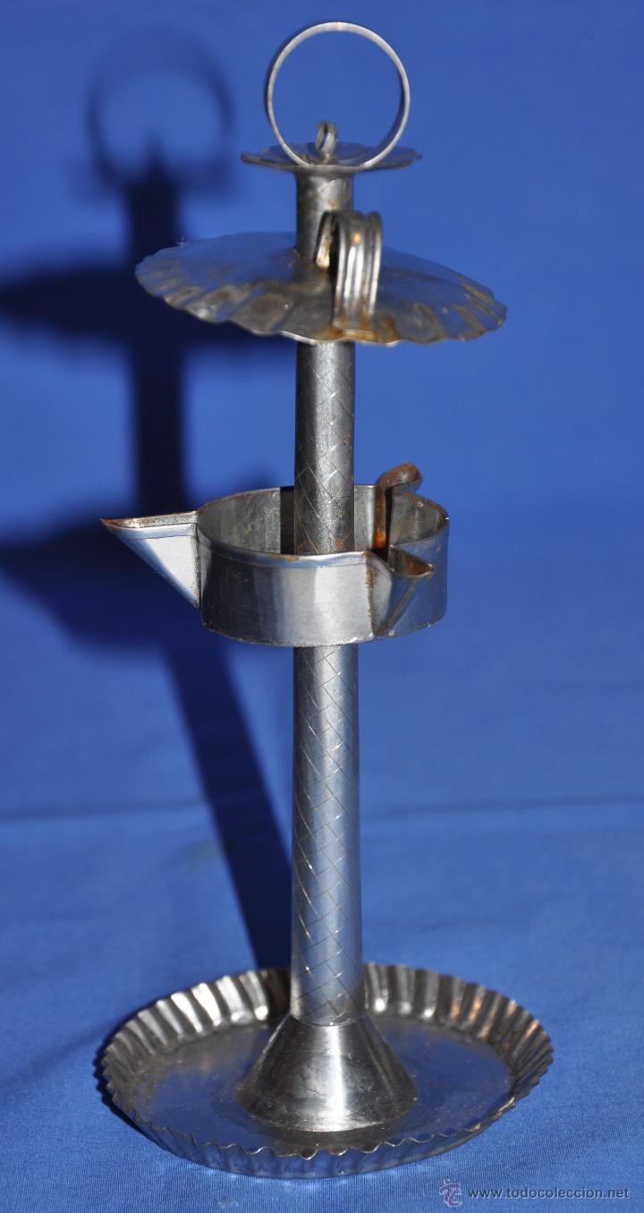 Vintage: Candil de aceite de tres picos pequeño. - Foto 2 - 46299158