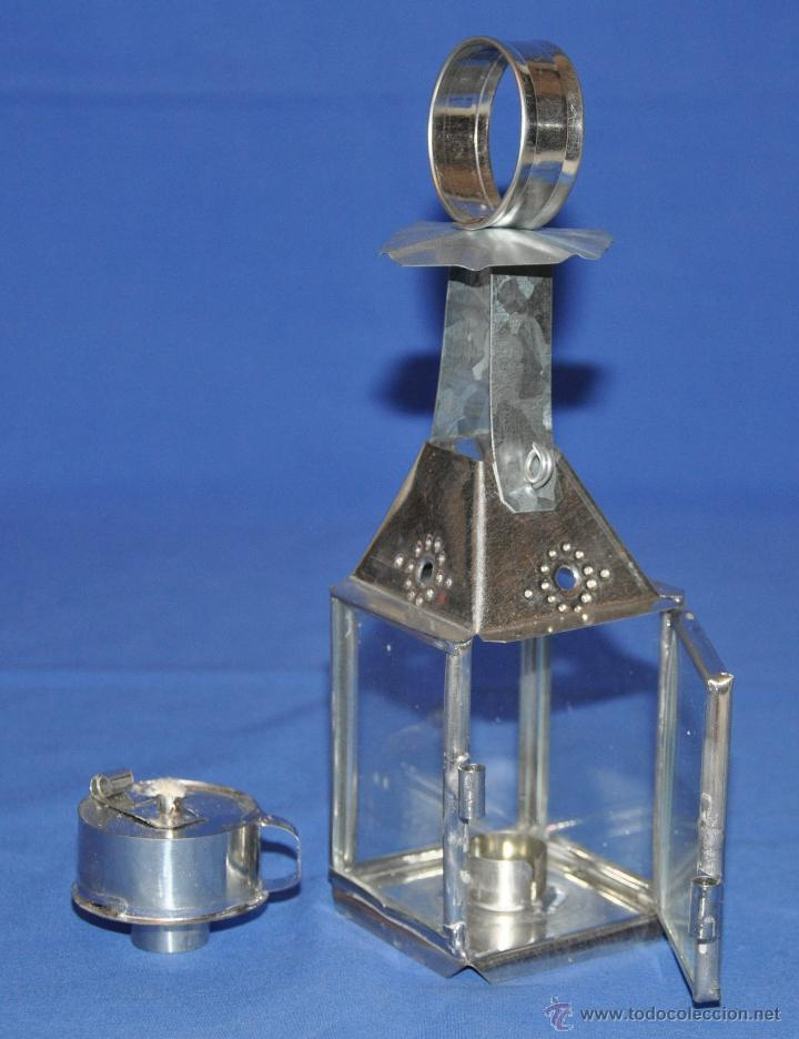 Vintage: Farol de hojalata artesanal grande. - Foto 4 - 46300387