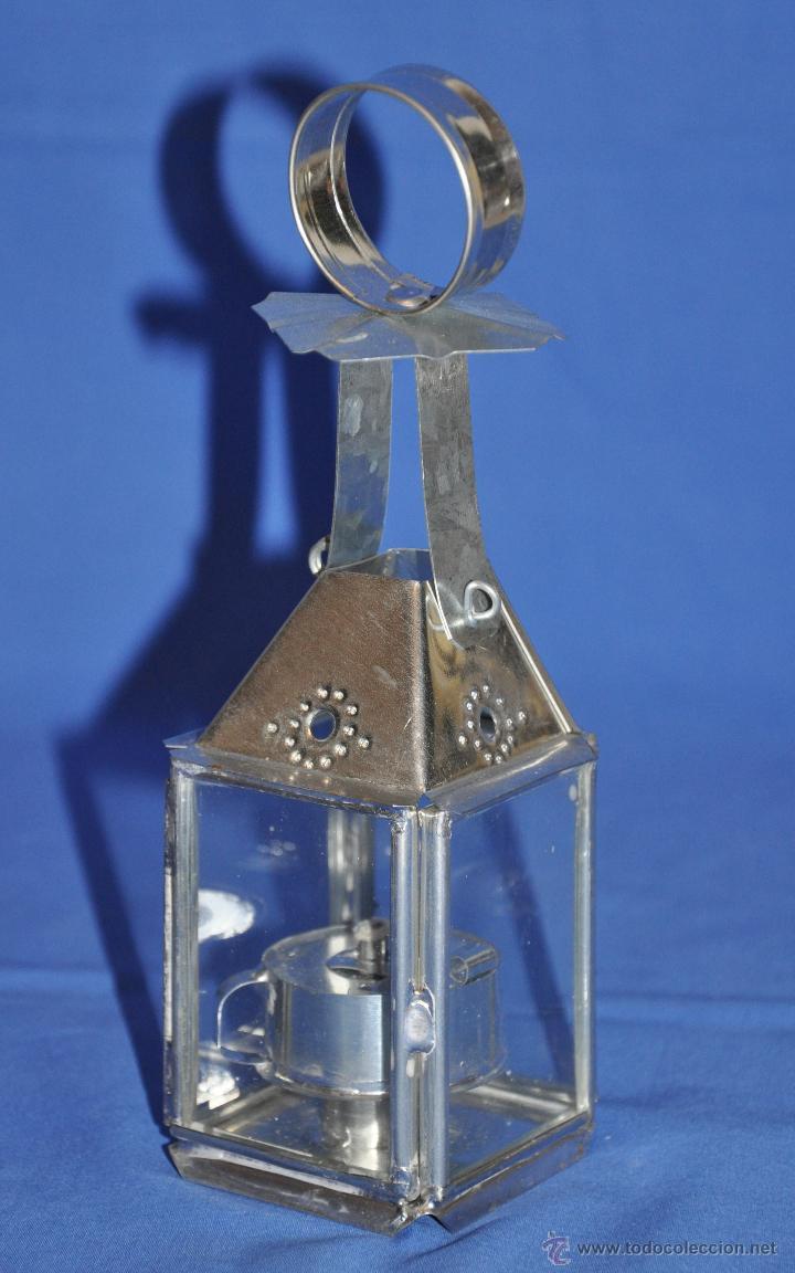 Vintage: Farol de hojalata artesanal grande. - Foto 7 - 46300387