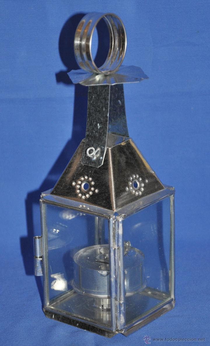 Vintage: Farol de hojalata artesanal pequeño. - Foto 2 - 46300549