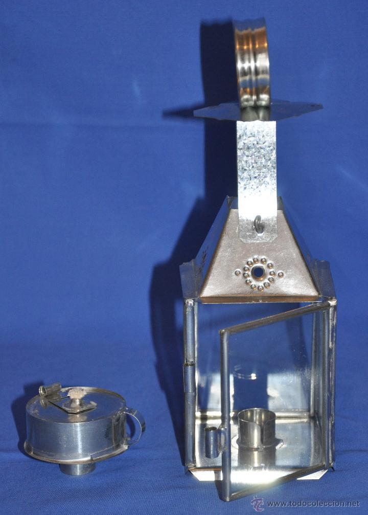 Vintage: Farol de hojalata artesanal pequeño. - Foto 3 - 46300549