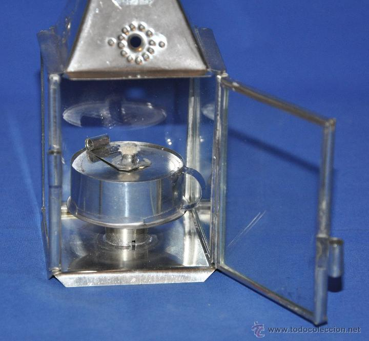 Vintage: Farol de hojalata artesanal pequeño. - Foto 5 - 46300549