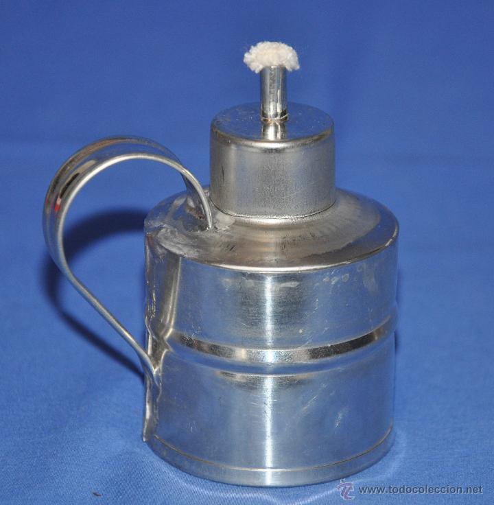 Vintage: Lamparilla de hojalata artesanal. - Foto 2 - 46300651